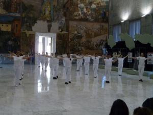 demo 02-07-16, roma, museo, una notte di kung fu al museo-